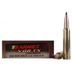 Barnes VOR-TX .338 Winchester Magnum 210 Gr. Tipped TSX Bullet Boat Tail- Lead-Free- Box of 20