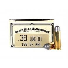 Black Hills Cowboy Action .38 Long Colt 158 Gr. Lead Round Nose- Box of 50