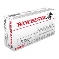 Winchester USA 9mm Luger 115 Gr. Jacketed Hollow Point USA9JHP