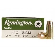 Remington UMC .40 S&W 165 Gr. Full Metal Jacket- Box of 50