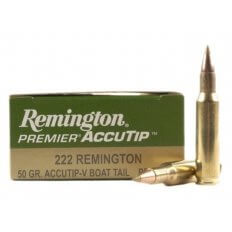 Remington Premier Varmint .222 Remington 50 Gr. AccuTip Boat Tail PRA222RB