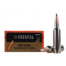 Federal Premium Vital-Shok .300 Winchester Short Magnum (WSM) 165 Gr. Trophy Copper Tipped Boat Tail- Lead-Free- Box of 20