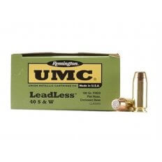 Remington UMC LeadLess .40 S&W 180 Gr. Flat Nose Enclosed Base- Box of 50
