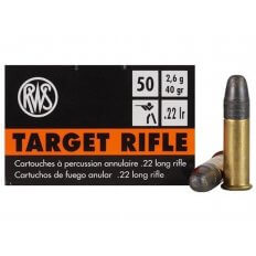 RWS Target Rifle .22 Long Rifle 40 Gr. Lead Round Nose- Box of 50