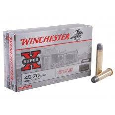 Winchester Super-X .45-70 Government 405 Gr. Lead Flat Nose Cowboy Action- Box of 20
