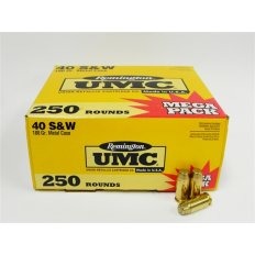 Remington UMC .40 S&W 180 Gr. Full Metal Jacket- Mega Pack of 250