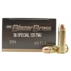 CCI Blazer Brass .38 Special 125 Gr. Full Metal Jacket- Box of 50