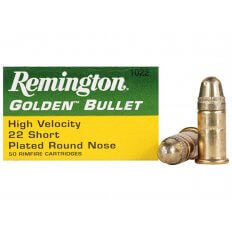 Remington High Velocity .22 Short 29 Gr. Plated Lead Round Nose- Box of 500