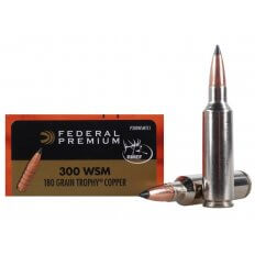 Federal Premium Vital-Shok .300 WSM 180 Gr. Trophy Copper Tipped Boat Tail- Lead-Free- Box of 20