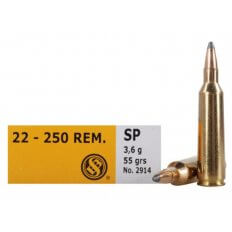 Sellier & Bellot .22-250 Remington 55 Gr. Soft Point- Box of 20