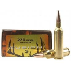 Federal Fusion .270 Winchester Short Magnum (WSM) 150 Gr. Spitzer Boat Tail- Box of 20