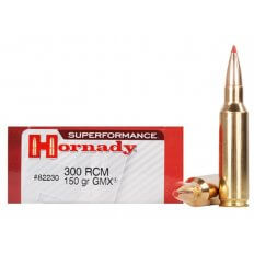 Hornady SUPERFORMANCE GMX .300 Ruger Compact Magnum (RCM) 150 Gr. GMX Boat Tail- Lead-Free- Box of 20