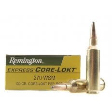 Remington Express .270 Winchester Short Magnum (WSM) 130 Gr. Core-Lokt Pointed Soft Point- Box of 20