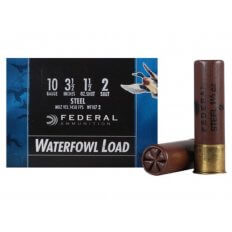 "Federal Speed-Shok Waterfowl 10 Gauge 3-1/2"" 1-1/2 oz #2 Non-Toxic Steel Shot- Box of 25"