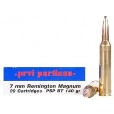 Prvi Partizan 7mm Remington Magnum 140 Gr. Pointed Soft Point- Box of 20