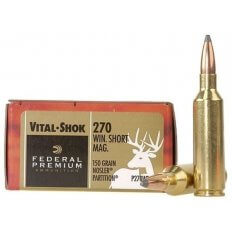 Federal Premium Vital-Shok .270 Winchester Short Magnum (WSM) 150 Gr. Nosler Partition- Box of 20