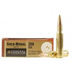 Federal Premium Gold Medal .308 Winchester 175 Gr. Sierra MatchKing Hollow Point Boat Tail- Box of 20