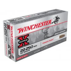 Winchester Super-X .22-250 Remington 64 Gr. Power-Point- Box of 20