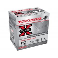 "Winchester Super-X Heavy Game Load 20 Gauge 2-3/4"" 1 oz #6 Shot- Box of 25"