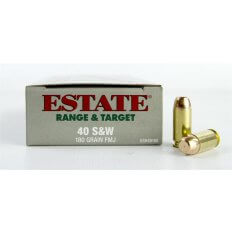 Estate Range & Target .40 S&W 180 Gr. FMJ- Box of 50