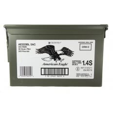 Federal American Eagle .223 Remington 55 Gr. FMJBT- Ammo Can of 500