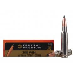 Federal Premium Vital-Shok .308 Winchester 165 Gr. Trophy Copper Tipped Boat Tail-Lead-Free- Box of 20