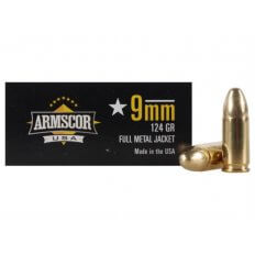Armscor 9mm Luger 124 Gr. Full Metal Jacket- Box of 50