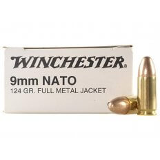 Winchester NATO 9mm Luger 124 Gr. Full Metal Jacket- Box of 50