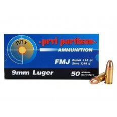Prvi Partizan 9mm 115 Gr. FMJ- Box of 50