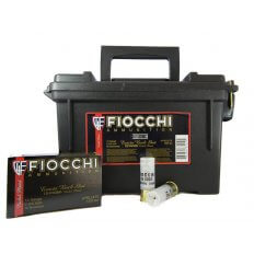 "Fiocchi Exacta 12 Gauge 2-3/4"" 00 Buckshot 9 Nickel Plated Pellets- Ammo Can of 80"