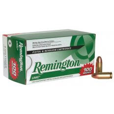 Remington UMC 9mm Luger 115 Gr. Metal Case (MC)- Box of 100