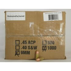 Northern Hills Precision 9mm 115 Gr. RN Plated- Remanufactured- Box of 1000