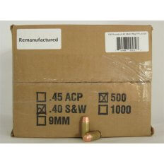 Northern Hills Precision .40 S&W 155 Gr. Flat Point- Remanufactured- Box of 500