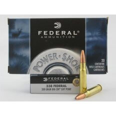 Federal Power-Shok .338 Federal 200 Gr. Uni-Cor Soft Point- Box of 20