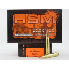 HSM .240 Weatherby 75 Gr. Hornady V-Max- Box of 20