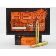 HSM .375 Remington Ultra Magnum 285 Gr. Speer Grand Slam- Box of 20