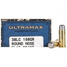 Ultramax Cowboy Action .38 Long Colt 158 Gr. Lead Round Nose Flat Point- Box of 50