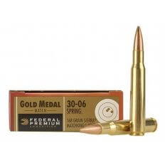Federal Premium Gold Medal .30-06 Springfield 168 Gr. Sierra MatchKing Hollow Point Boat Tail- Box of 20