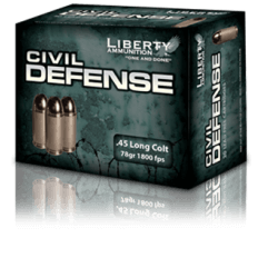 Liberty Civil Defense .45 Long Colt 78 Gr. Fragmenting Hollow Point- Lead-Free- Box of 20
