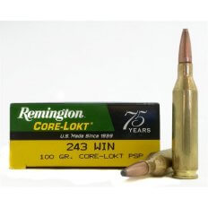 Remington Express .243 Winchester 100 Gr. Core-Lokt Pointed Soft Point- Box of 20