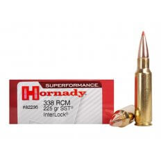 Hornady SUPERFORMANCE SST .338 Ruger Compact Magnum (RCM) 225 Gr. SST- Box of 20