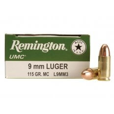 Remington UMC 9mm Luger 115 Gr. FMJ- Box of 50