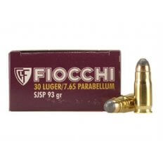 Fiocchi .30 Luger 93 Gr. Semi-Jacketed Soft Point- Box of 50