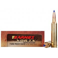 Barnes VOR-TX 7mm Remington Magnum 140 Gr. Tipped TSX Bullet Boat Tail- Lead-Free- Box of 20