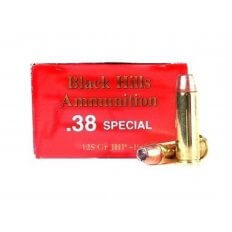 Black Hills .38 Special +P 125 Gr. Jacketed Hollow Point- Box of 50