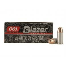 CCI Blazer .32 ACP 71 Gr. Total Metal Jacket- Box of 50