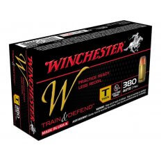 Winchester W Train Reduced Lead .380 ACP 95 Gr. Full Metal Jacket- Box of 50