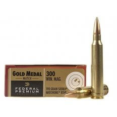 Federal Premium Gold Medal .300 Winchester Magnum 190 Gr. Sierra MatchKing Hollow Point Boat Tail- Box of 20
