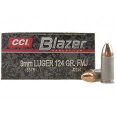 CCI Blazer 9mm Luger 124 Gr. Full Metal Jacket- Box of 50