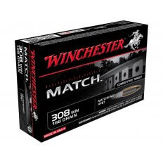 Winchester Supreme .308 Winchester 168 Gr. Hollow Point Boat Tail Match- Box of 20